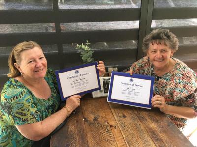 Amlc Lions Joan Adcock and Lorraine Waddington
