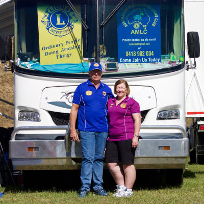 * AMLC Lions Len and Lorraine Waddington